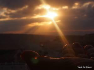 Sonnenaufgang über Jerusalem